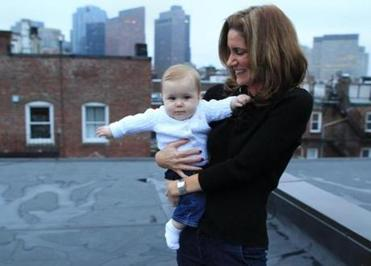 Courtney Rice, with her daughter Molly, used a scarf to hide her early pregnancy at her new job .
